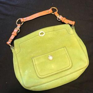 COACH Green Suede Handbag